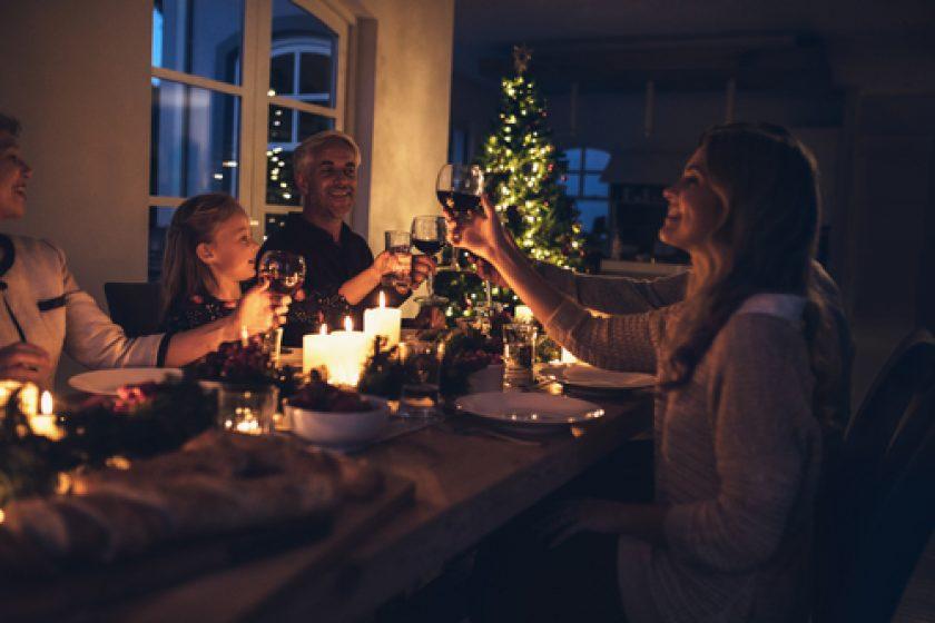 Kerstfeest familie